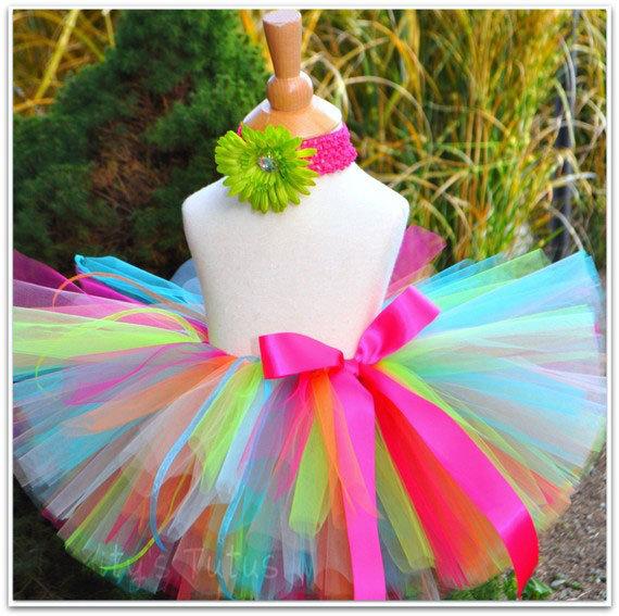 Красивая радужная юбка из фатина для девочки. - карточка от пользователя shisoika в Яндекс.Коллекциях