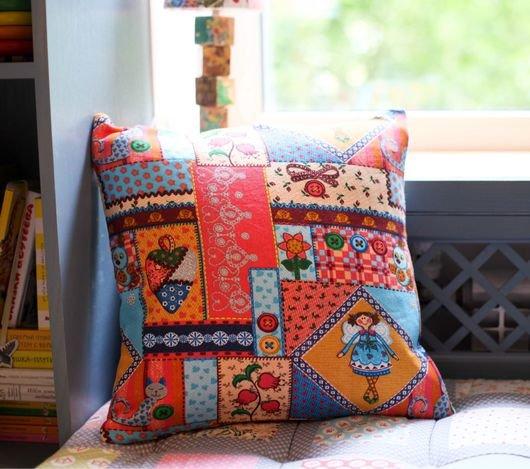 Декоративные подушки в стиле пэчворк 48