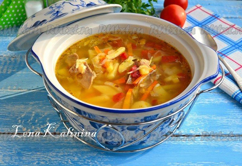 Суп из говядины с капустой