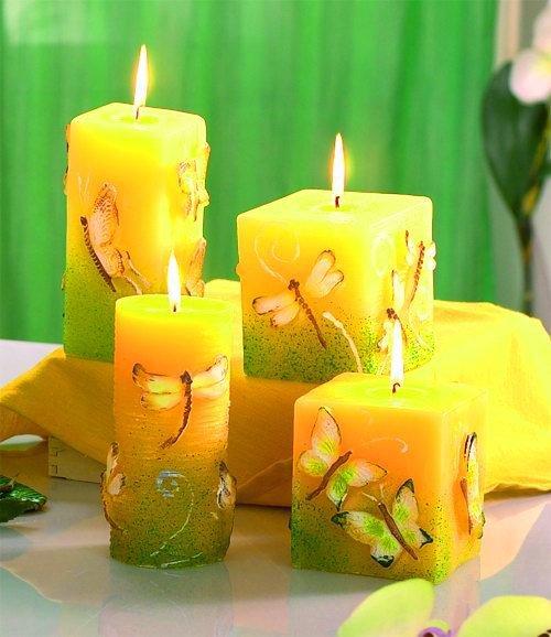 Декоративная свечи своими руками