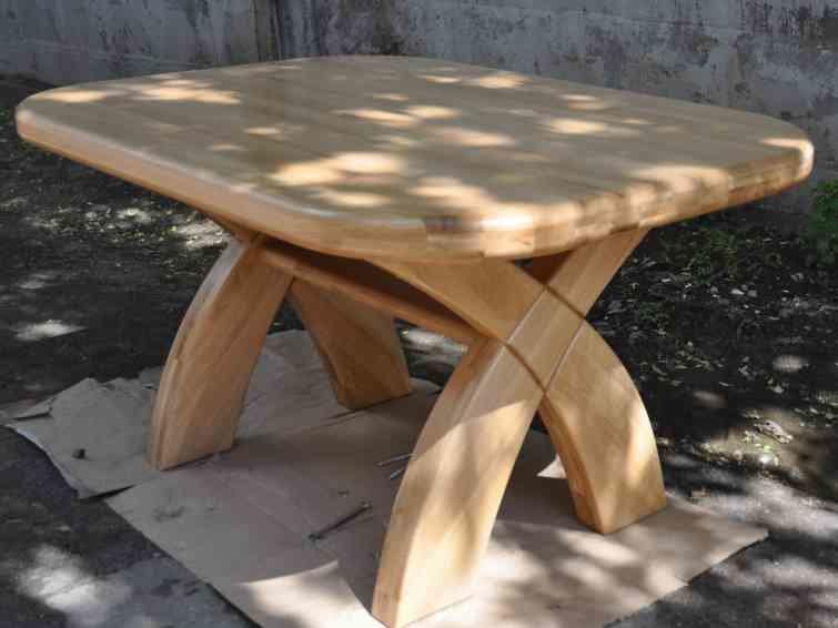 Самодельный кухонный стол из дерева своими руками 47