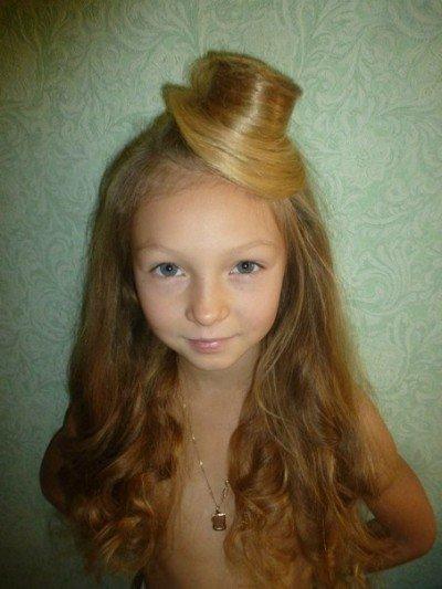 Детская причёска фото шляпка из волос