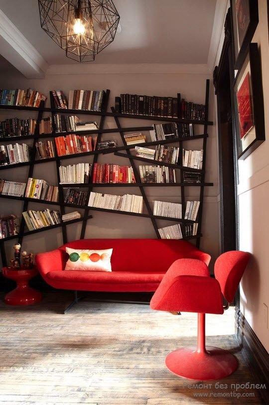 Фото книжных полок в интерьере
