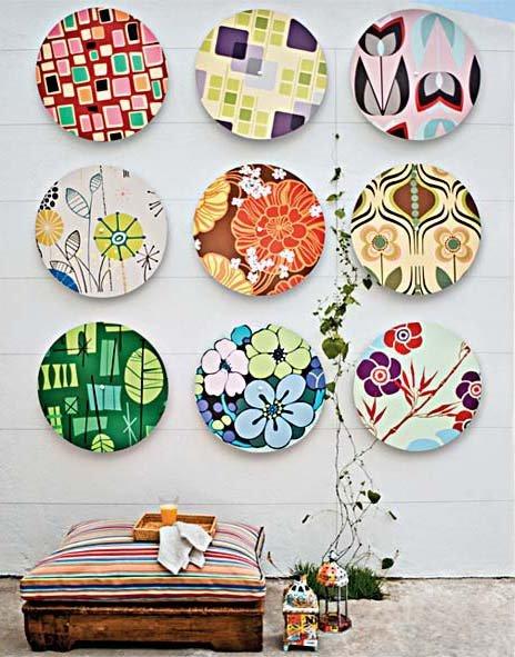 Декор тарелок своими руками на стену 78