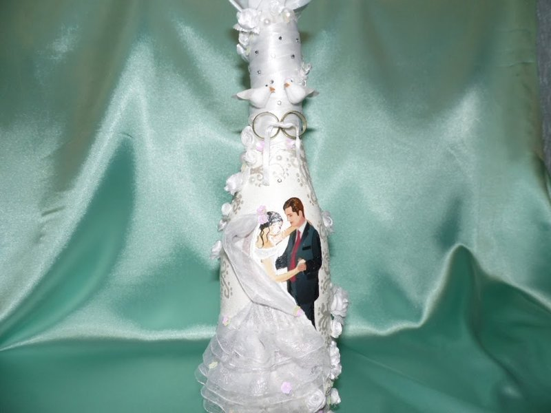 Декупаж свадебные бутылки шампанского фото своими руками
