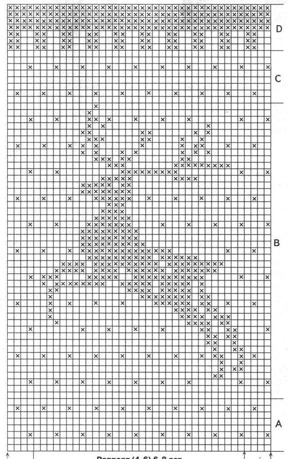Вышивка для варежек схемы 739