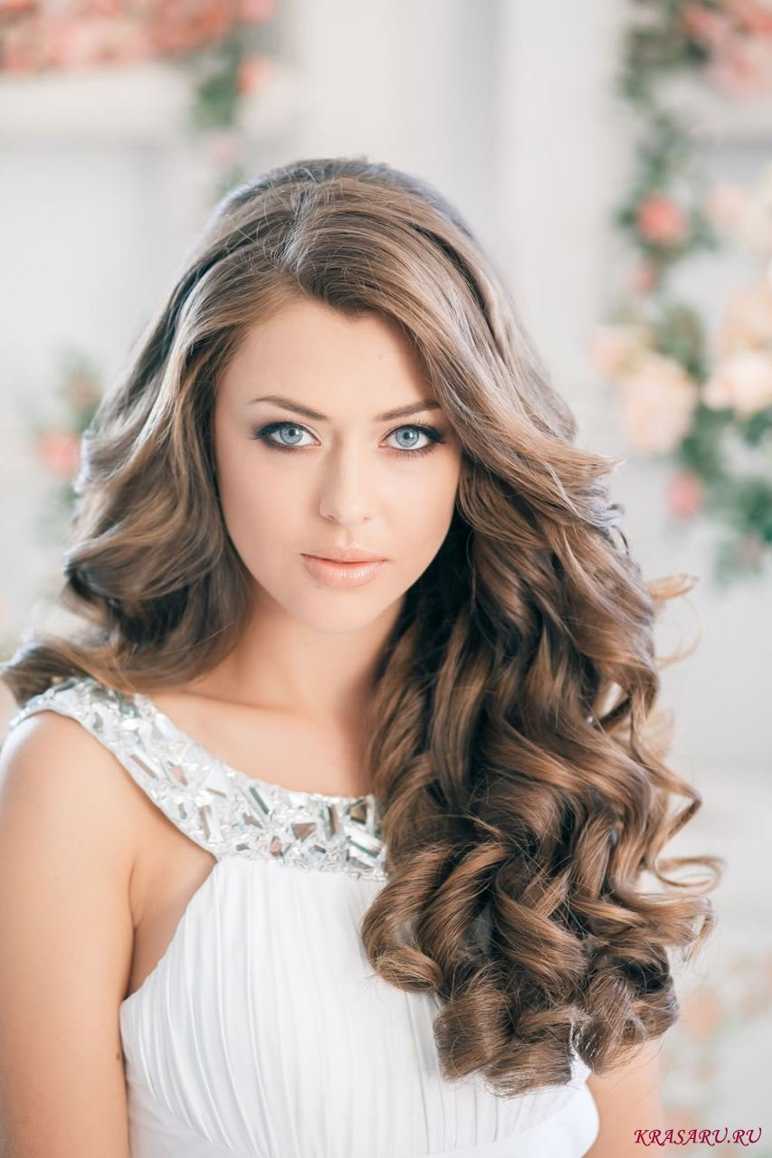 Прически для фото прически для длинных волос локоны