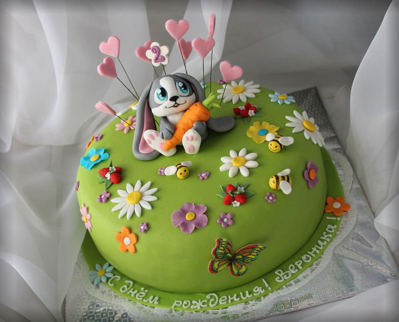 Украшение из мастики на детский торт своими руками