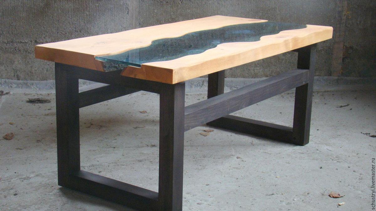Деревянный стол в стиле лофт своими руками 29