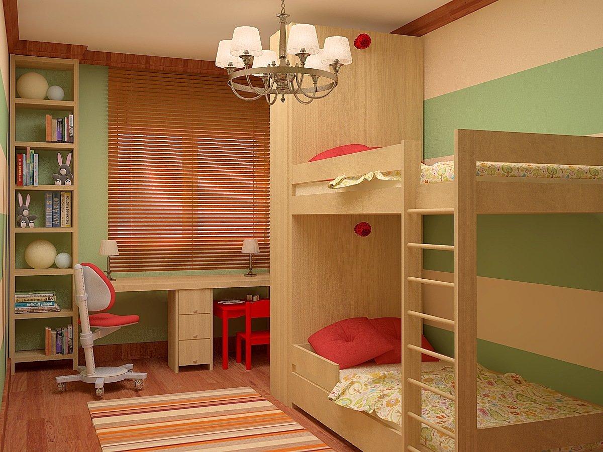 Обустроить комнату для двоих детей фото