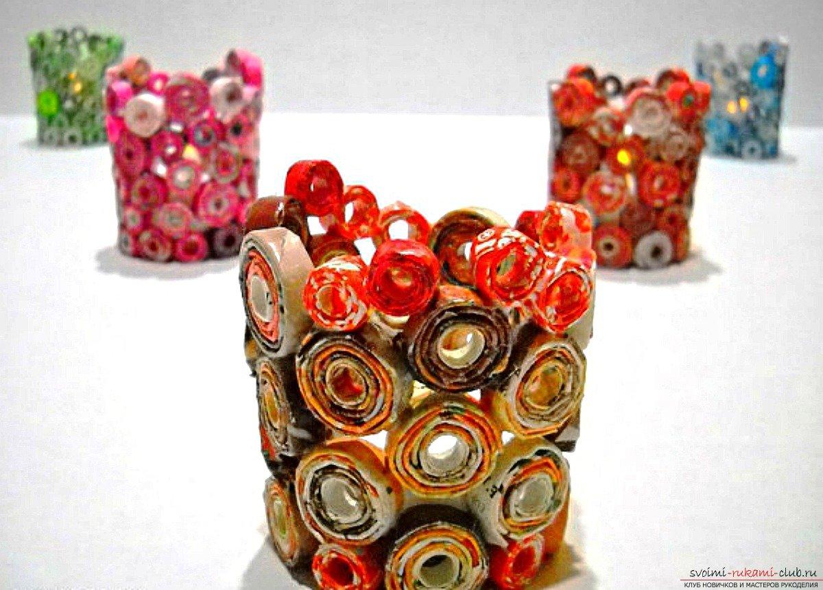 Красивые поделки из конфетных фантиков