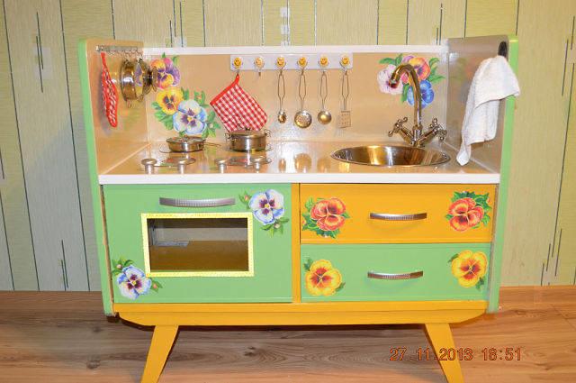 Детские кухни для девочек своими руками из коробки