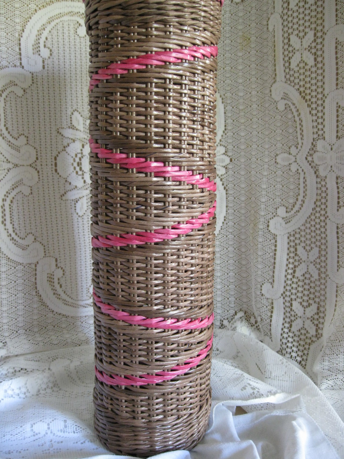 Газетные трубочки плетение напольных ваз