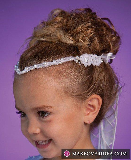 Прическа девочке на короткие волосы на утренник7