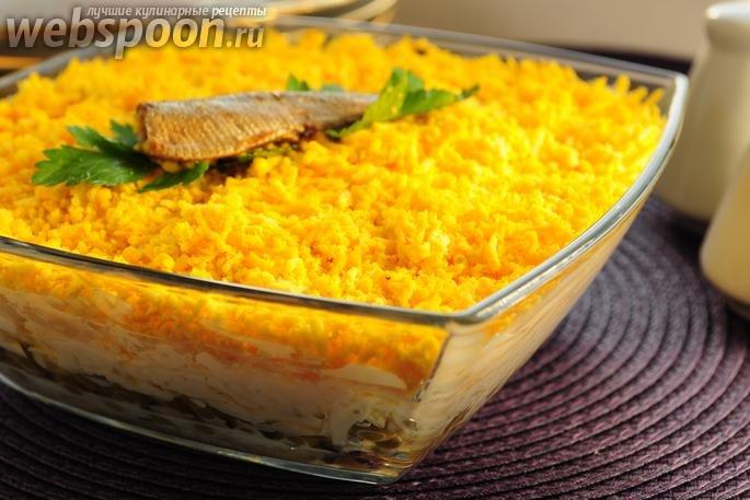 Салат со шпротами грибами и сухариками рецепт