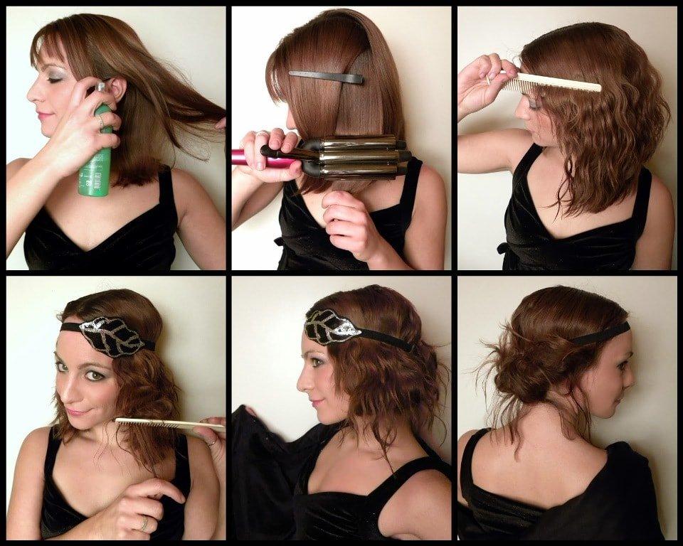 Легкие прически своими руками на волосы до плеч 28