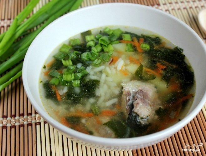 Суп из рыбных консервов сардины с фото