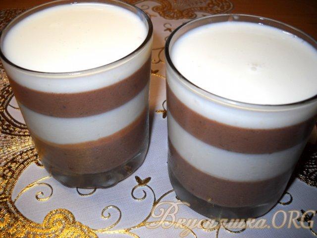 Сметанное желе с шоколадом рецепт
