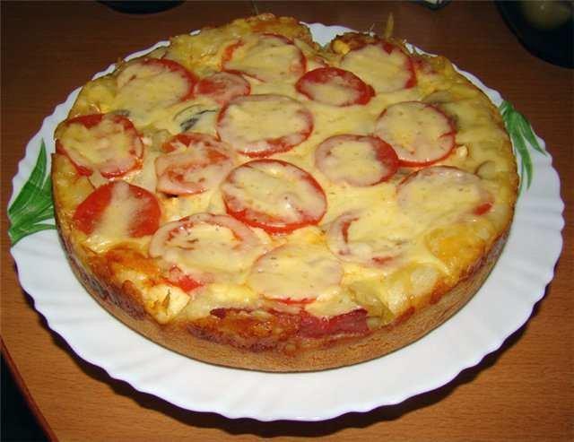Выпечка пиццы в мультиварке и репцепты, фото урока