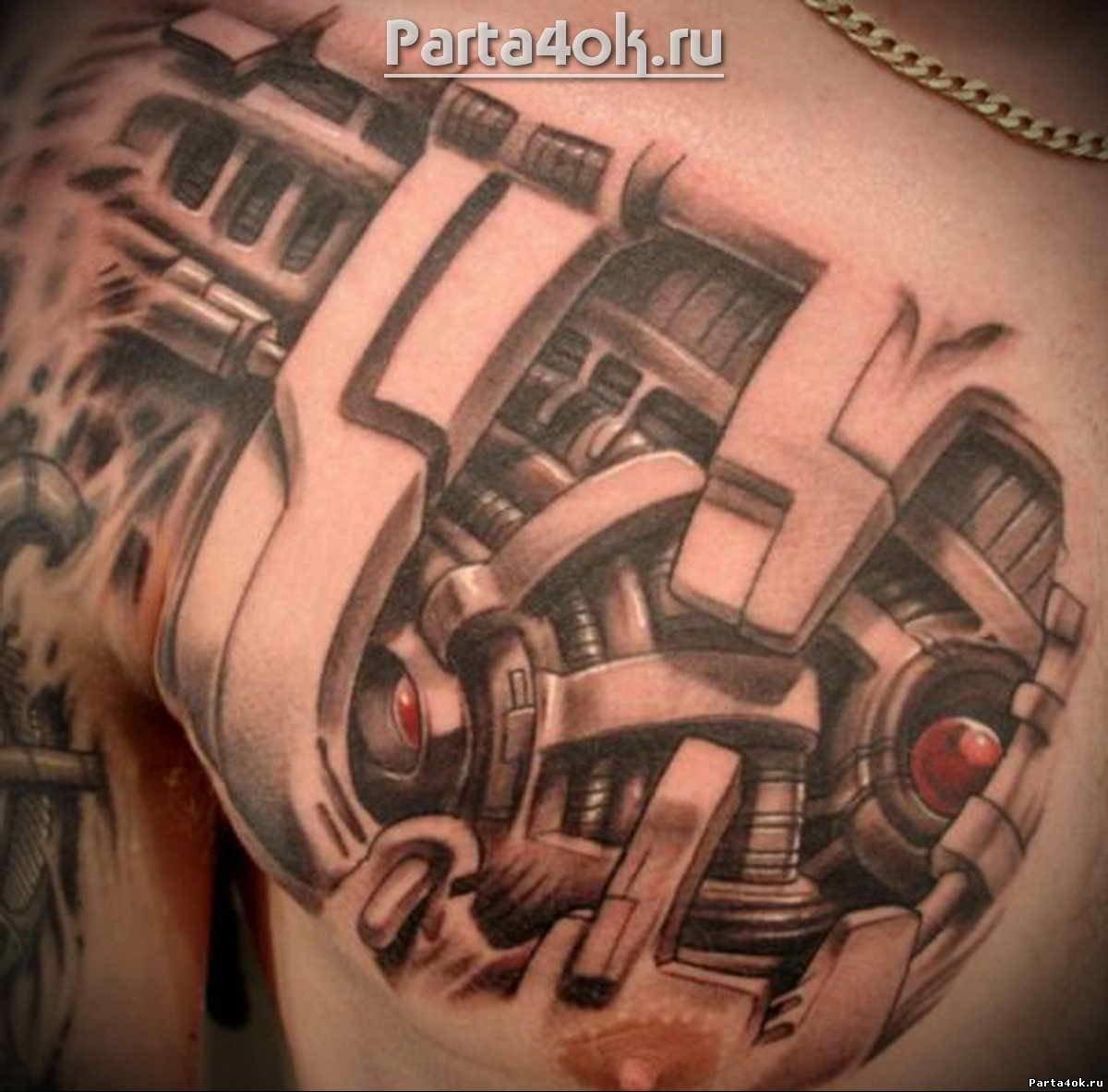 Мужские татуировки биомеханика фото на