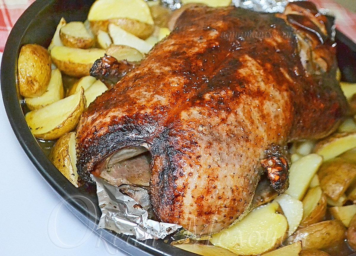 Как приготовить гуся в духовке с картошкой целиком рецепт пошагово