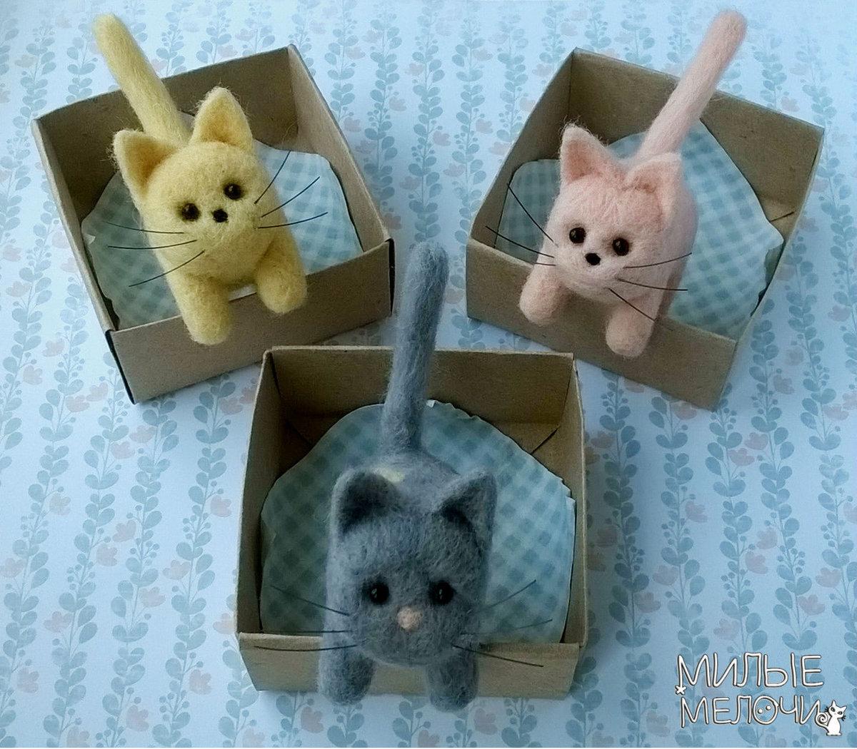 Маленькие кошки своими руками 77