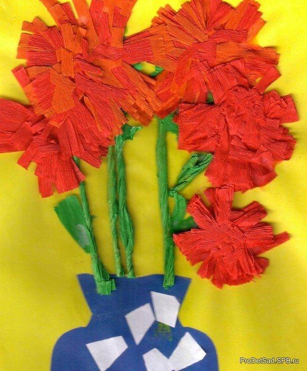 Поделки из цветной гофрированной бумаги для детей 84