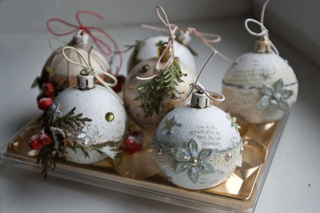 Декор новогоднего шара