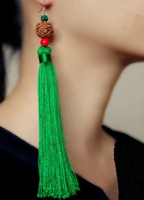 Как сделать сережки из нитки