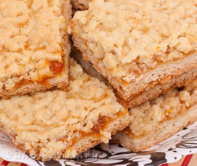 Песочный тёртый пирог с вареньем рецепт