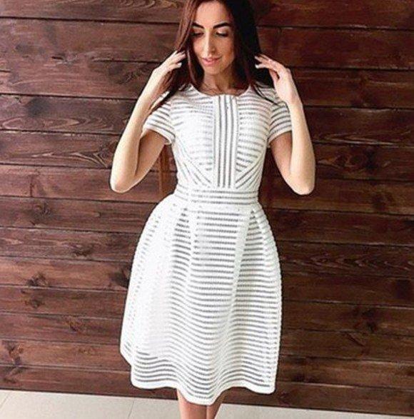 Фото белых платьев сеткой