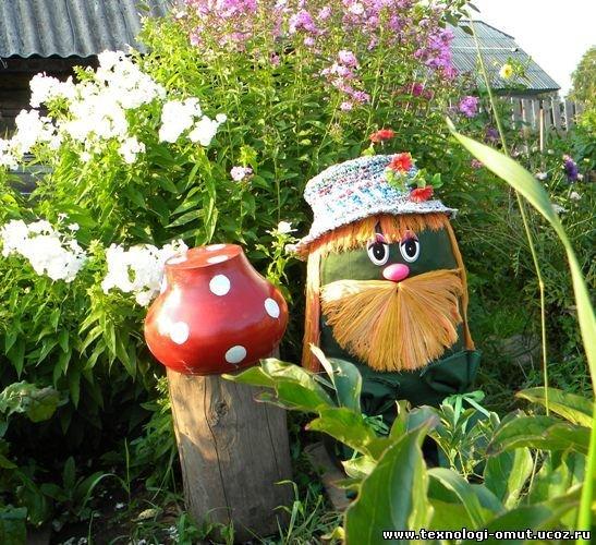 Интересные поделки для сада и огорода своими руками фото