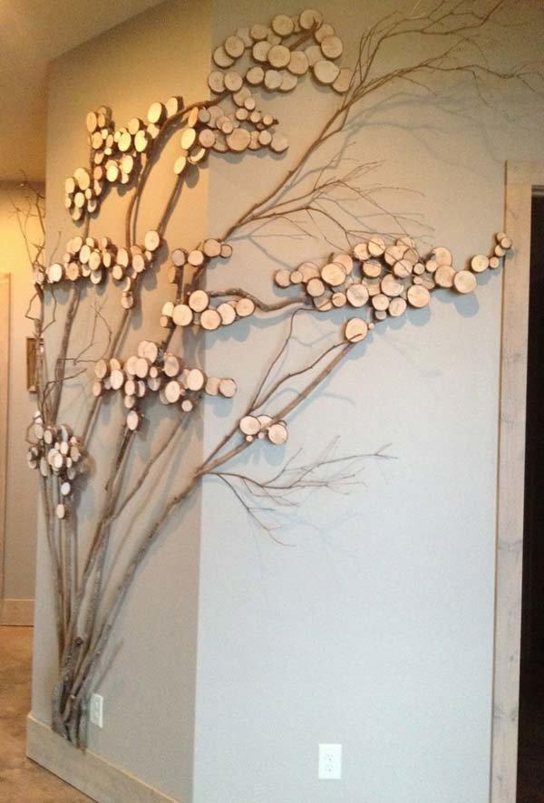 Декор веток деревьев своими руками