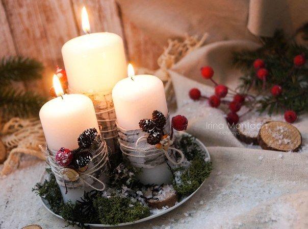 Как сделать свечу к новому году