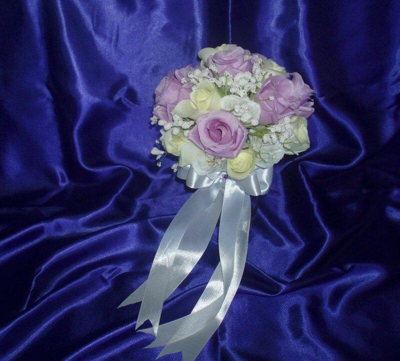 Букет дублер из искусственных цветов для невесты