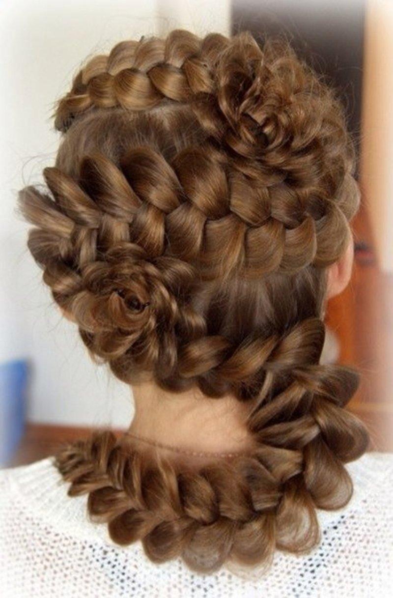 Разные причёски из косы