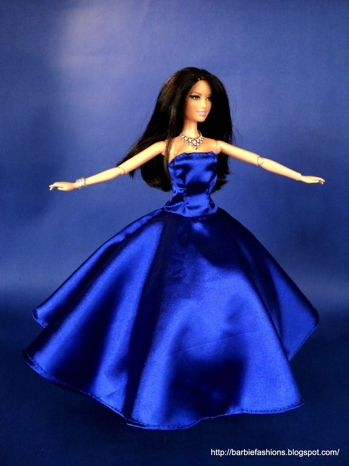 Diy:как сшить длинное платье для куклы barbie из. - Pinterest
