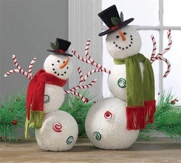 Украшение снеговика своими руками 45
