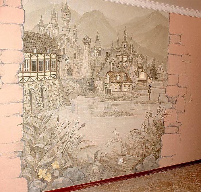 Художественная роспись на стену своими руками