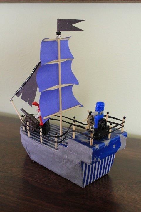 Как сделать кораблик из фото