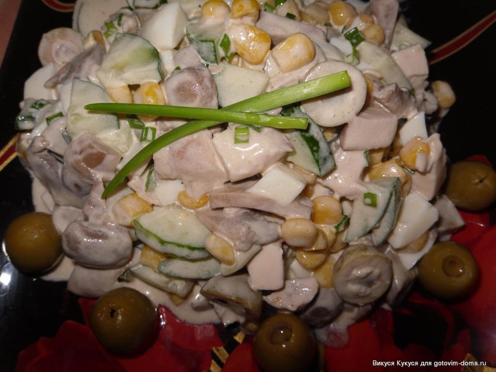 Легкий салат с грибами рецепты с