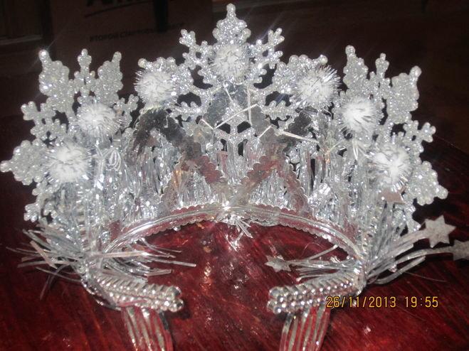 Как сделать корону новогоднюю своими руками 3