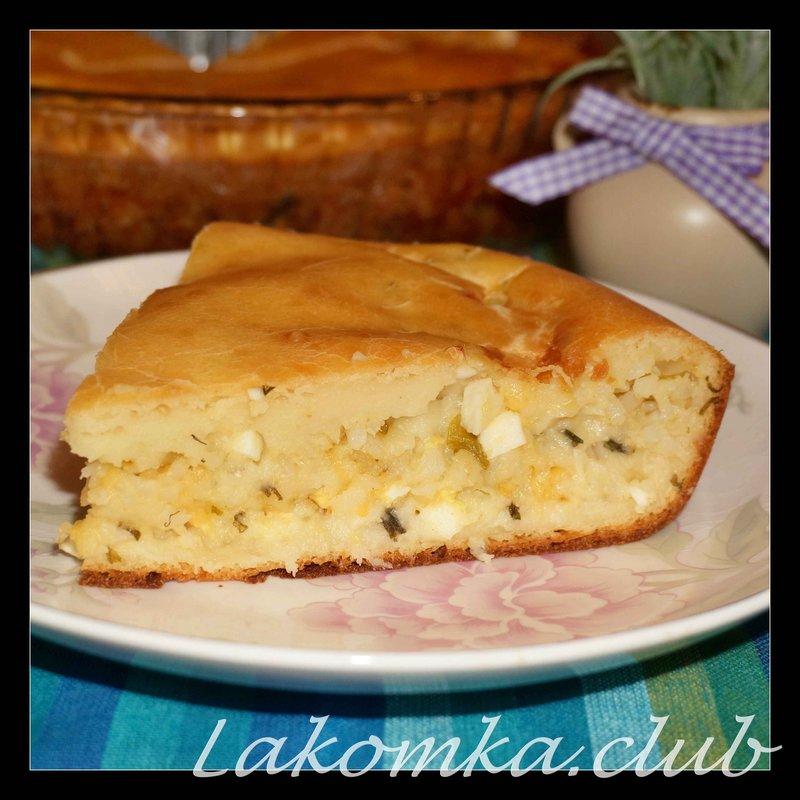 Пирог на кефире с яйцом в духовке рецепт с