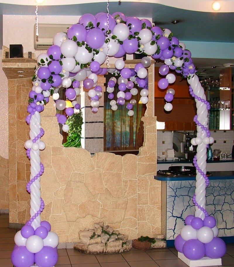 Как сделать арку для свадьбы из шаров своими руками 92