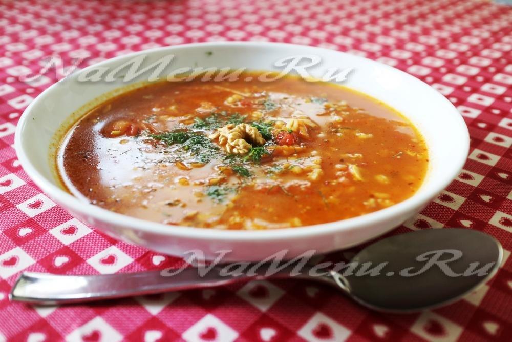 Суп харчо с грецкими орехами в мультиварке рецепты с фото