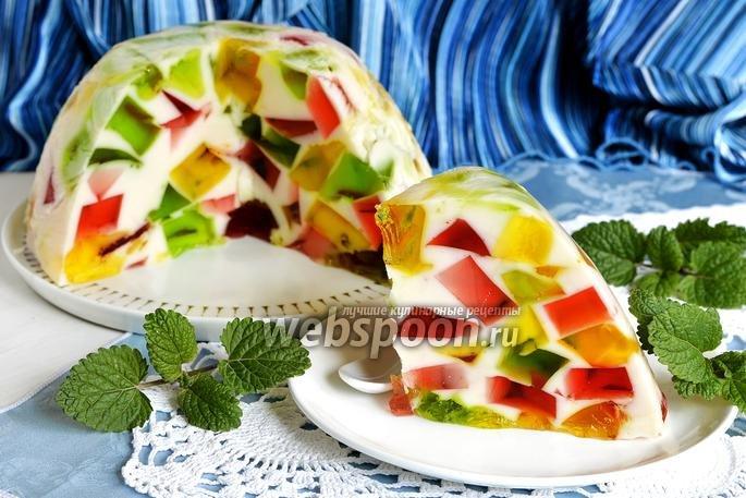 Тортик с фруктами битое стекло фото