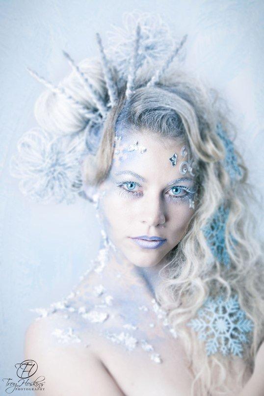 Прическа и макияж зима