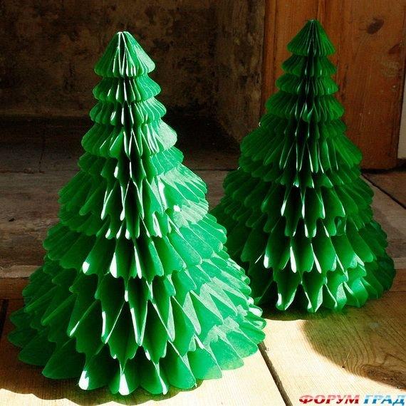 Новогодние поделки елочки из бумаги своими руками