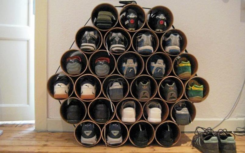 Обувная полка из пластиковых труб своими руками фото 50