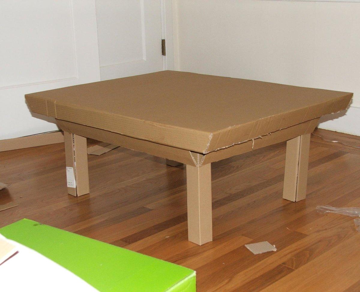 Делаем эконом мебель из картона: стол, полки для книг и обуви 79